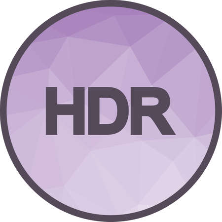 Camera, HDR, equipment icon vector image. Can also be used for picture editing. Suitable for use on web apps, mobile apps and print media.