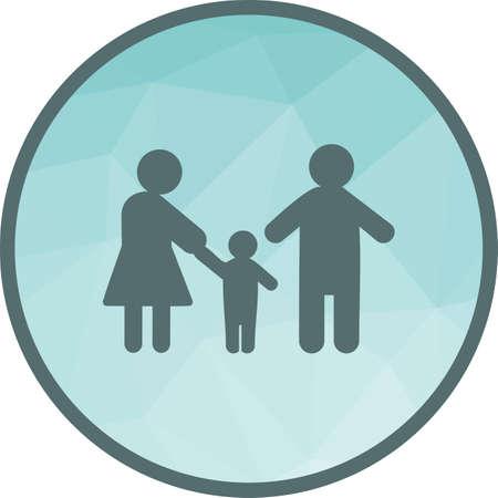 Los padres, la familia, la imagen del vector del icono del niño. También se puede utilizar para humanos. Adecuado para su uso en aplicaciones web, aplicaciones móviles y medios impresos. Ilustración de vector