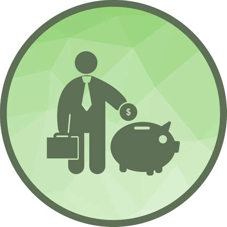 Piggy bank, banking, saving icon vector image. Can also be used for humans. Suitable for use on web apps, mobile apps and print media. 向量圖像