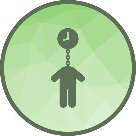Time, money, timeout icon vector image. Can also be used for humans. Suitable for use on web apps, mobile apps and print media.