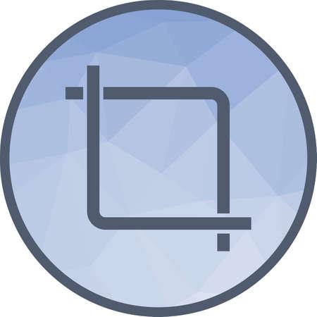 Image, recadrage, image vectorielle d'icône vidéo. Peut également être utilisé pour l'édition d'images. Convient pour une utilisation sur les applications Web, les applications mobiles et les supports imprimés.