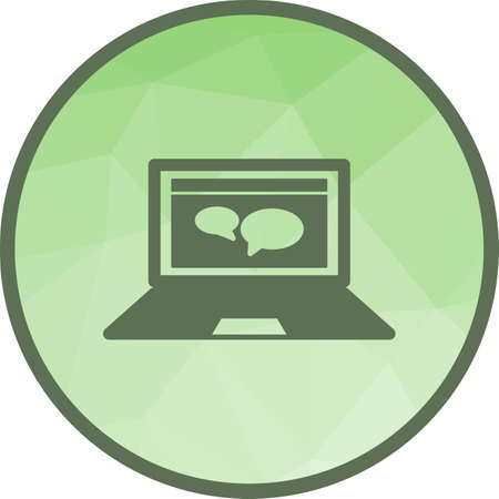 Video, online, conversation icon vector image. Can also be used for schooling. Suitable for use on web apps, mobile apps and print media.