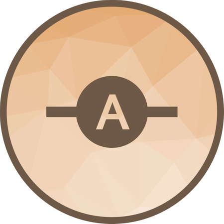 Ammeter, meter, electrician icon vector image. Can also be used for electric circuits. Suitable for use on web apps, mobile apps and print media. Vector Illustration