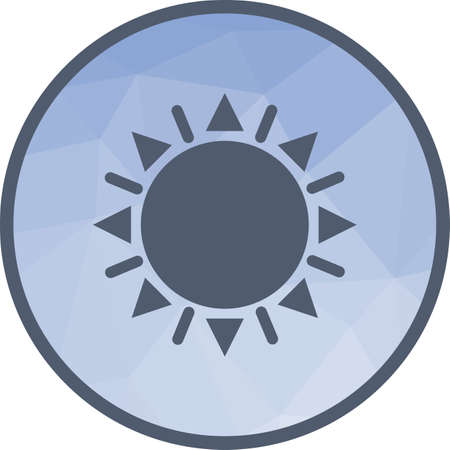Sun, solar, hot icon vector image.Can also be used for astronomy. Suitable for use on web apps, mobile apps and print media. Vectores