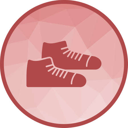 Shoes, sneakers, shoe icon vector image.Can also be used for hipster. Suitable for mobile apps, web apps and print media.