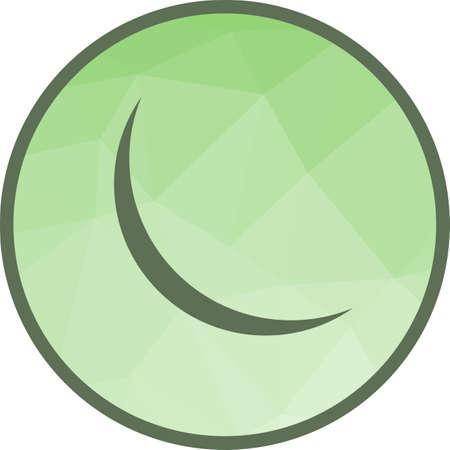 New Moon Icon 版權商用圖片 - 106516401