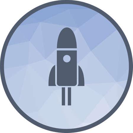 Imagen de vector de icono de espacio, cohete, lanzadera. También se puede utilizar para astronomía. Adecuado para su uso en aplicaciones web, aplicaciones móviles y medios impresos.