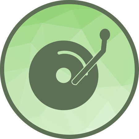 Disc, cds, music icon vector image. Can also be used for music. Suitable for web apps, mobile apps and print media. Vettoriali
