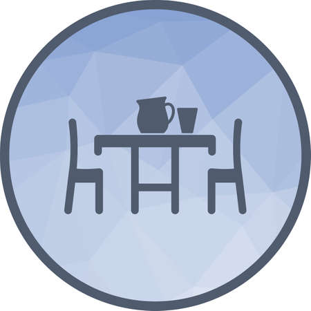Table, setting, food icon vector image.Can also be used for home. Suitable for mobile apps, web apps and print media. Stock Vector - 111875855