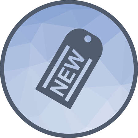 Tag, new, price icon vector image. Can also be used for shopping. Suitable for use on web apps, mobile apps and print media.