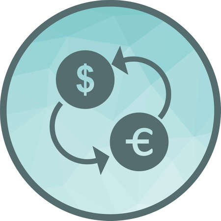 Currency Exchange icon Illustration