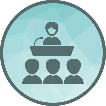 Conference, seminar, presentation icon vector image. Can also be used for elections. Suitable for use on web apps, mobile apps and print media.