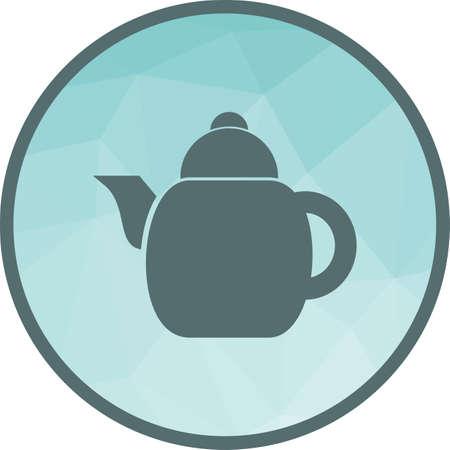 Czajnik elektryczny, herbata ikona grafika wektorowa. Może być również używany do spa. Nadaje się do aplikacji mobilnych, aplikacji internetowych i mediów drukowanych.