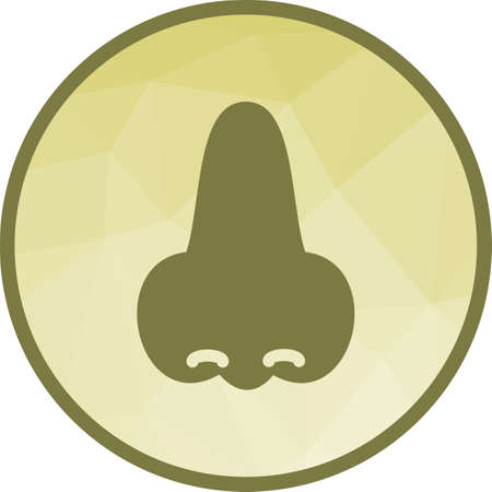 Nose, face, smell icon vector image. Can also be used for human anatomy. Suitable for use on web apps, mobile apps and print media. Illustration