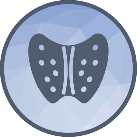 Thyroid, healthy, human icon vector image. Can also be used for human anatomy. Suitable for mobile apps, web apps and print media. Vector Illustration