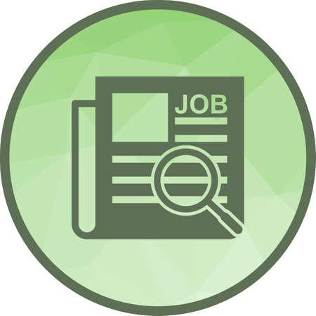 Trabajo, anuncio, imagen de vector de icono de periódico. También se puede utilizar para empleo. Adecuado para su uso en aplicaciones web, aplicaciones móviles y medios impresos.