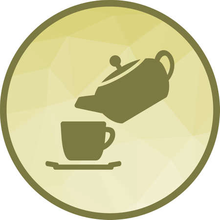 Tea, pouring, cup icon vector image. Can also be used for kitchen. Suitable for use on web apps, mobile apps and print media. 向量圖像