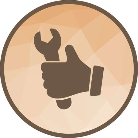Wrench, hand, glove icon vector image. Can also be used for car servicing. Suitable for use on web apps, mobile apps and print media. 矢量图像