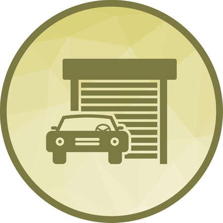 Car infront of Garage Ilustração