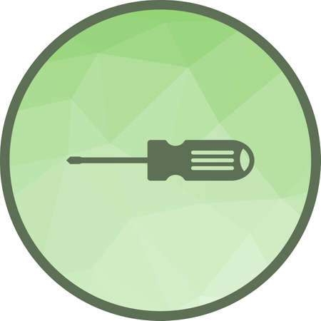 Screw, driver, tools icon vector image. Can also be used for car servicing. Suitable for use on web apps, mobile apps and print media.  イラスト・ベクター素材
