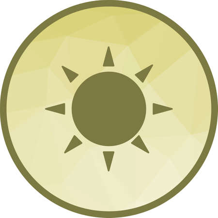 Sunny, day, light icon vector image. Can also be used for seasons. Suitable for web apps, mobile apps and print media. 向量圖像