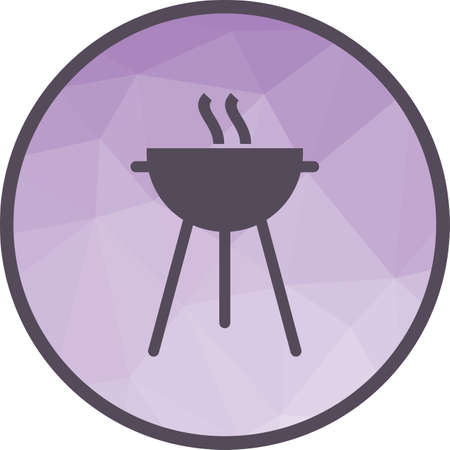 Food, barbeque, grill icon vector image. Can also be used for seasons. Suitable for web apps, mobile apps and print media.
