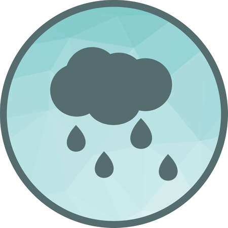 Rain, rainfall, monsoon icon vector image. Can also be used for seasons. Suitable for use on web apps, mobile apps and print media. Çizim