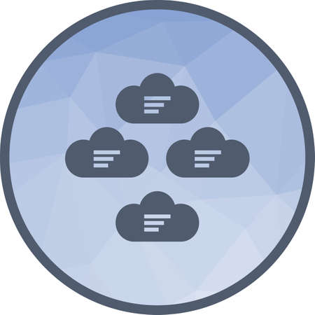 Cloud, group, network icon vector image.Can also be used for data sharing. Suitable for mobile apps, web apps and print media. 일러스트