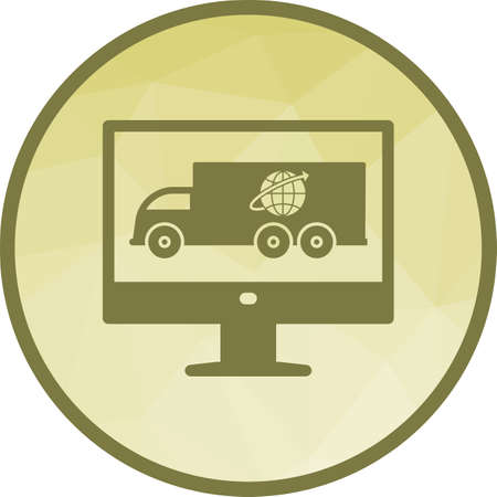 Online, delivery, business icon vector image. Can also be used for logistics. Suitable for mobile apps, web apps and print media.