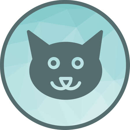Cat, cute, face icon vector image. Can also be used for pet shop. Suitable for use on web apps, mobile apps and print media.
