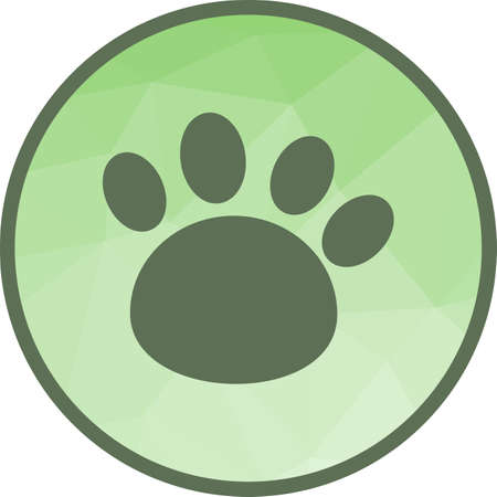 Paw, toe, animal icon vector image. Can also be used for pet shop. Suitable for use on web apps, mobile apps and print media. Illustration