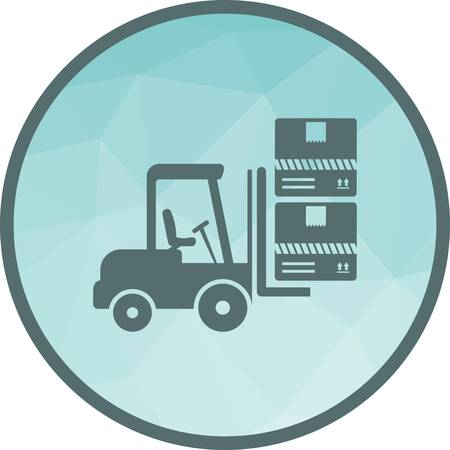 Container, lift, box icon vector image. Can also be used for logistics. Suitable for mobile apps, web apps and print media. Stock Vector - 111634595