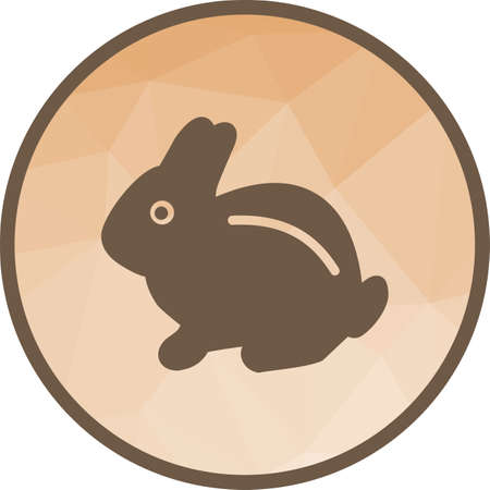 Rabbit, pet, bunny icon vector image. Can also be used for pet shop. Suitable for mobile apps, web apps and print media.