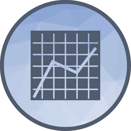 Diagramm, Grafik, Wachstum Symbol Vektor-Bild. Kann auch für Infografiken verwendet werden. Geeignet für den Einsatz in Web-Apps, mobilen Apps und Printmedien.