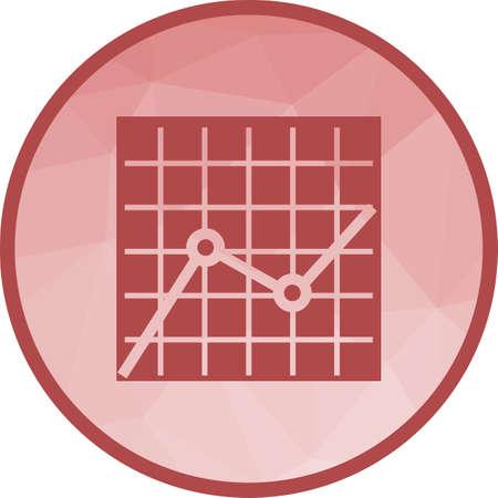 Diagramm mit mehreren Trends Vektorgrafik