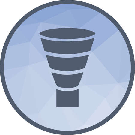 Funnel, marketing, chart icon vector image. Can also be used for infographics. Suitable for web apps, mobile apps and print media.