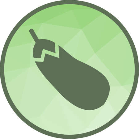 Eggplant, food, healthy icon vector image. Can also be used for fruit vegetables. Suitable for mobile apps, web apps and print media. Standard-Bild - 107002926