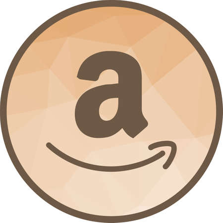Amazon, online, electronic icon vector image. Can also be used for social media logos. Suitable for mobile apps, web apps and print media.