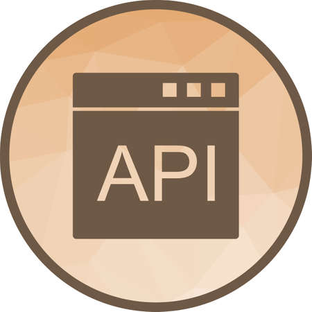 API, software, development icon vector image. Can also be used for software development. Suitable for mobile apps, web apps and print media. 向量圖像