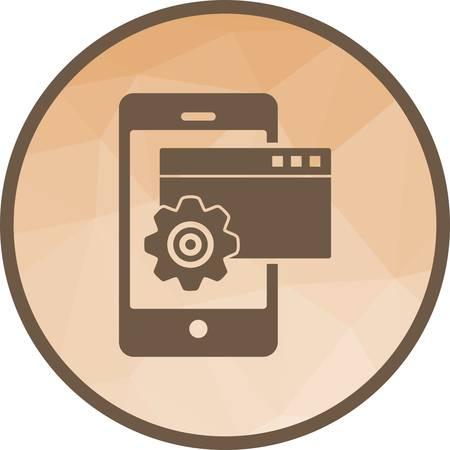 Devices Settings Icon Illusztráció