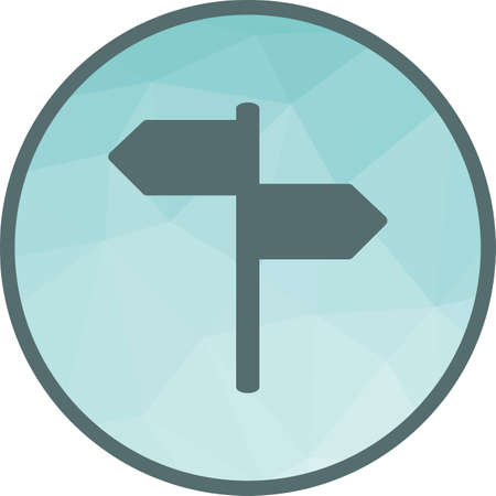 Direction, way, signpost icon vector image. Can also be used for travel. Suitable for use on web apps, mobile apps and print media. Vektorové ilustrace