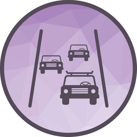 Road, highway, travel icon vector image. Can also be used for travel. Suitable for use on mobile apps, web apps and print media.