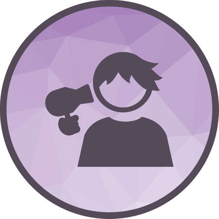 Hair, dryer, girl icon vector image. Can also be used for kids. Suitable for use on web apps, mobile apps and print media. Vectores