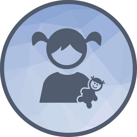 Playing, child, dolls icon vector image. Can also be used for kids. Suitable for web apps, mobile apps and print media. Illustration