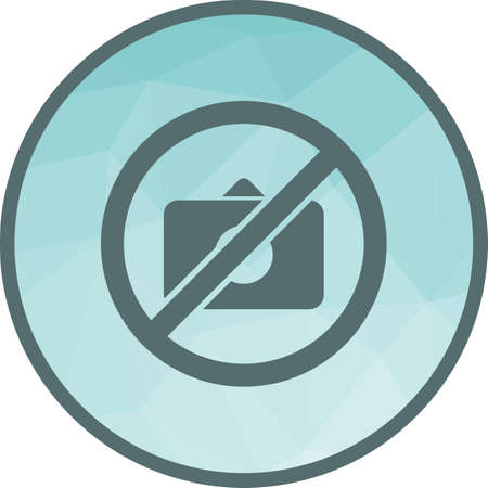 No, photo, camera icon vector image. Can also be used for warning caution. Suitable for use on web apps, mobile apps and print media.  イラスト・ベクター素材
