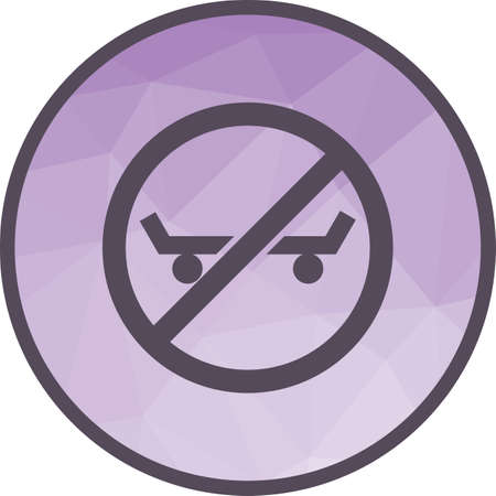 Sign, roller, shoe icon vector image. Can also be used for warning caution. Suitable for use on web apps, mobile apps and print media.  イラスト・ベクター素材