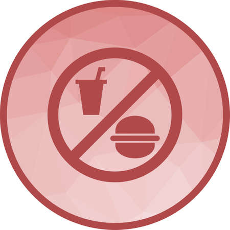 No, food, drinks icon vector image. Can also be used for warning caution. Suitable for use on web apps, mobile apps and print media.