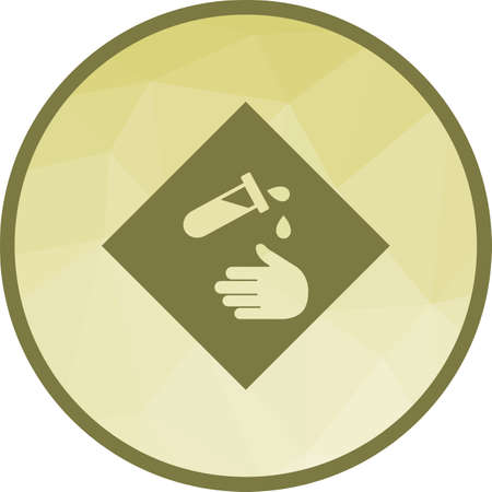 Corrosive, hazard, sign icon vector image. Can also be used for warning caution. Suitable for use on web apps, mobile apps and print media.