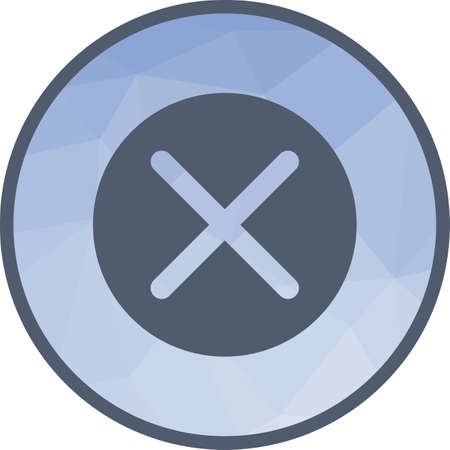 Not, cross, tape icon vector image. Can also be used for warning caution. Suitable for use on web apps, mobile apps and print media. Illustration