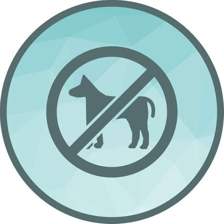 No, sign, dog icon vector image. Can also be used for warning caution. Suitable for use on web apps, mobile apps and print media. Banque d'images - 111582589